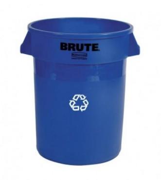 Contenedor redondo Brute para reciclar de 121 L sin tapa