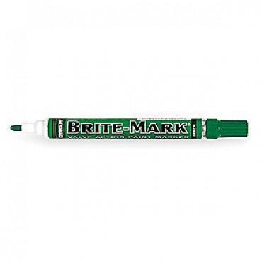 BRITE-MARK VERDE. PUNTA FINA. Marcador de Tinta Permanente.