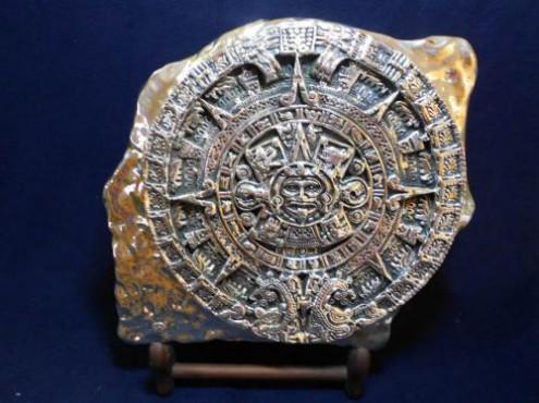 Calendario Azteca Grande, artesanías figuras en plata
