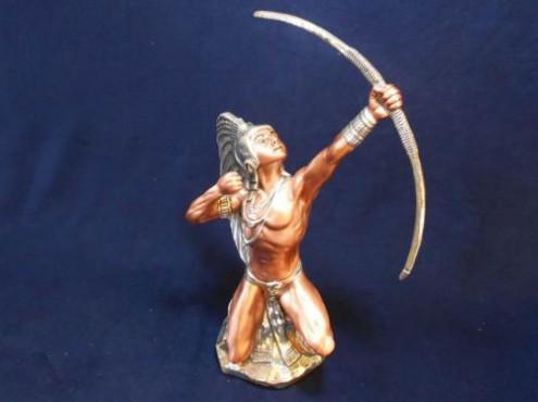 Caballero Jaguar, figuras prehispanicas en plata y Bronce