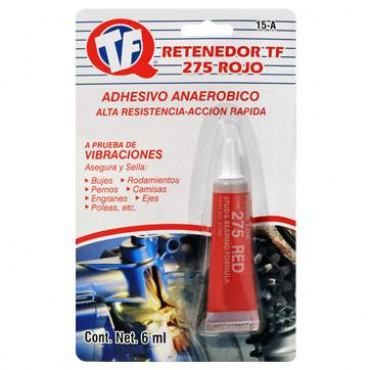 Retenedor TF 275 , Retenedor automotriz, líquido rojo anaeróbico