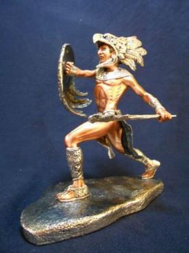 GUERRERO ÁGUILA VS GUERRERO JAGUAR C/U, figuras y esculturas en plata y bronce