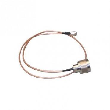 Jumper de 0.6 mt de longitud, cable RG-316 conector N macho en un extremo y al otro SMA inverso