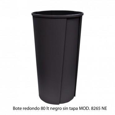 BOTE DE BASURA REDONDO SIN TAPA 80 LTS