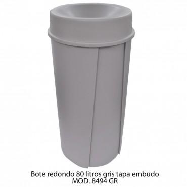 BOTE DE BASURA REDONDO 80 LTS