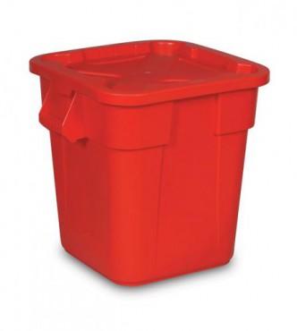 Combo caja incluye contenedor cuadrado BRUTE y tapa Snap-Lock